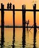 Reflections of the U Bein Bridge (Amarapura, Myanmar 2013) (Alex Stoen) Tags: 1dx 500px alexstoen alexstoenphotography burma canon canoneos1dx ef70200mmf28lisusm flickr geotagged google mandalay mandaly myanmar natgeo nationalgeographicexpeditions reflections silhouettes sunset travel ubeinbridge vacation facebook smugmug teakwood