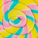 Closeup of colorful lollipop textured background