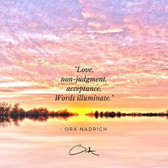Ora Nadrich Quote Words Illuminate (oranadrich) Tags: quote inspiration meditation mindfulness spirituality positivity health wellness awareness gratitude bepresent transformational iftt sayswhomethod