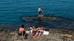 * (Timos L) Tags: man sunbath sea arguile sisha summer seaside street candid life portrait corniche beirut lebanon olympus em5ii panasonic 123528 timosl