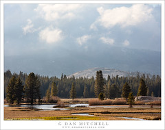 Spring Meadow, Clearing Clouds (G Dan Mitchell) Tags: yosemite national park tuolumne meadows spring river water mist haze clearing clouds dome season mountains sierra nevada california usa north america landscape nature