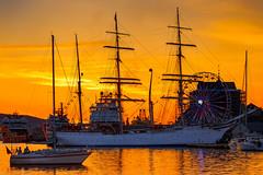 Tall Ship Statsraad Lehmkuhl Bergen (cantdoworse) Tags: statsraad lehmkuhl bergen tall ship norway sunset yacht sea landscape canon 6d 70 300l europe