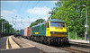90046, Long Buckby (Jason 87030) Tags: 90046 longbuckby liner freight freightliner railway train station platform northants northamptonshire easyshare kodak color colour boxes frecht cargo contianers ditton felixstowe trees green yellow locomotive class90 freighliner june summer 2006
