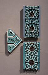 Star-shaped tiles - Uzbekistan, 14th Century (Monceau) Tags: islamic art design muséedulouvre louvre starshaped ceramic tiles turquoise interlace uzbekistan