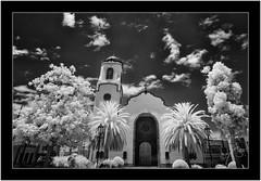 La Palma, Sony A7 IR, Nikkor 18mm/3.5 (Bartonio) Tags: 720nm architecture bw blanconegro canaryislands church clouds iglesia infrared ir islascanarias lapalma lossauces modified monochrome nikkor18mm35 nubes sonya7ir