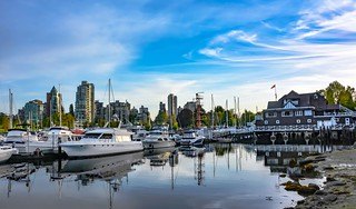 Coal Harbour reflections.