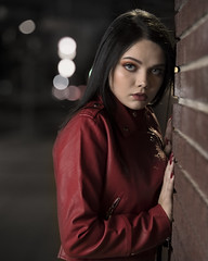 Madison Riley downtown (Mitch Tillison Photography) Tags: beautiful stunning gorgeous lovely alluring woman female model fashion urban brick wall downtown alley night nighttime portrait shoot photo photography nikon d5 godox flashpoint 600 strobe flickrsbest tamron 70200