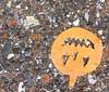 found: jackolantern (giveawayboy) Tags: found jackolantern parking lot