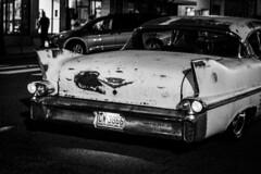 "60 years of Friday nights (hutchphotography2020) Tags: caddy 58cadillac cruising thestrip nikon blackandwhite ""nikonflickraward"""