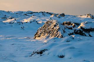 Winter in Hvassahraun, Iceland
