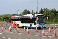 Fife Scottish Omnibuses Ltd - 54501 - YX18LHL; Forth Road Bridge; 09-06-2018 (graeme8665) Tags: stagecoachfife forthroadbridge stagecoachexpress plaxtonpantherle volvob8rle