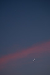 Crescent Moon and Venus, Indianapolis, Indiana (Roger Gerbig) Tags: moon venus planet satellite luna rogergerbig