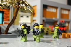 Team (Devid VII) Tags: k81 minifigure minifigures minifig devidvii lego moc diorama military devid vii drone fugitive commercial district soldiers war
