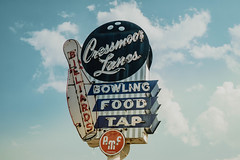 Listing the essentials (hartsaw) Tags: bowling neon signage sign vintage retro hobart indiana cressmoor lanes