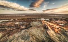 Flying Over The Mountains Towards The Desert* (Rob Pitt) Tags: red rocks west kirby wirral sunset photographer clouds a7rii sony samyang 14mm f28 landscape sandstone beach sea sky ocean