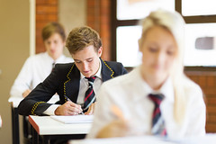 Melbourne Private Tutoring - Alchemy Tuition (alchemytuition) Tags: students highschool boys girls female male portrait uniform middleschool school class education classroom classmates studying learning desk sitting closeup happy smiling cheerful cute pretty beautiful young youth adolescence adolescent white caucasian teens teenagers teenage brunette tie formal smart books indoors pen writing southafrica