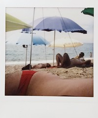 Curves and lines (ale2000) Tags: instax instant lomoinstantsquare instaxsquare lomoinstant fuji lomography fujifilminstaxsquare square analog analogue beach summer beachlife beachporn trunk umbrellas sunny seaside mare almare