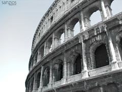 View of the Colosseum - Rome - Italy (sanzios) Tags: rome colosseum ancient coliseum italy roman italian monument roma europe architecture landmark old famous amphitheater travel stone colosseo historical ruin city history tourism building sky arena european stadium cityscape outdoor view gladiator historic exterior summer empire sunset arch panorama culture forum brick theater vacation landscape arc blue day place touristic