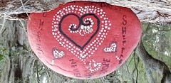 20180206_083710 (awinner) Tags: february2018 paint red 2018 rock heart tree february6th2018