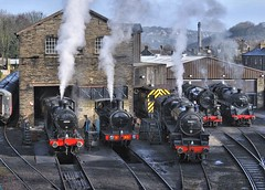 KWVR Haworth West Yorkshire 11th March 2018 (loose_grip_99) Tags: kwvr west yorkshire haworth england uk railway railroad rail midland steam engine locomotive mpd shed depot preservation transportation gassteam uksteam train trains railways prep gala lms fowler 4f 060 43924 tvr 062t 85 tank stanier 5mt black5 460 britishrailways standard 4 75078 tracks s160 usatc 5820 280 march 2018 44871