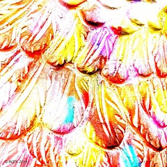 Feathers of Stone! (BGDL) Tags: iphone8plus sculpture garden stone colourful abstract week25 saturdaytheme flickrlounge