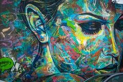 Some of the wonderful art at Wynwood Walls in Miami.
