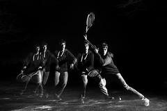 Tennis Self Portraits (Bailey the cool one) Tags: tennis strobe artificial light black white head nikon d750 nikond750