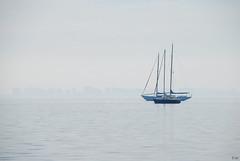 fog in the sea-niebla en el mar-DSC_3191-W (taocgs) Tags: landscape paisaje sea mar fog niebla marmenor murcia españa spain barcos ships azul blue