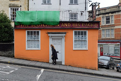 The Scotchman (sgreen757) Tags: bristol st saint michaels hill street fuji fujifilm x30 scotchman and his pack old pub public house women walking closed