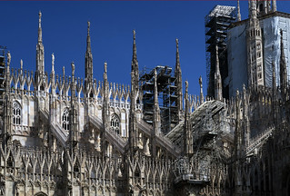 Conservation work at the Milan Cathedral