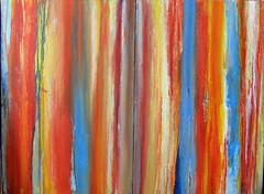 a fence with cracks (Peter Wachtmeister) Tags: artinformel art modernart mysticart popart artbrut phantasticart minimalart acrylicpaint abstract abstrakt surrealismus surrealism hanspeterwachtmeister