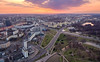 Minsk Sunset (free3yourmind) Tags: minsk sunset belarus aerial drone quadcopter nemiga park streets avenue clouds cloudy river city view