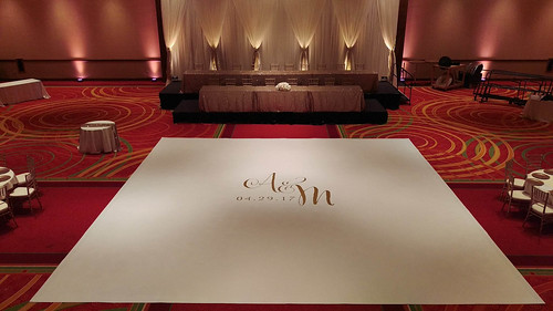 "Vinyl Wrapped Dance Floor at Coralville Marriott by Unique Events • <a style=""font-size:0.8em;"" href=""http://www.flickr.com/photos/81396050@N06/26678271067/"" target=""_blank"">View on Flickr</a>"