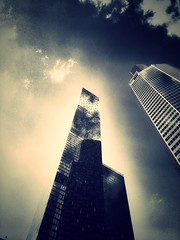 Pray to the new gods )) Moscow City Russia #MoscowCity (NO PHOTOGRAPHER) Tags: construction art techno москва россия архитектура строительство река мост