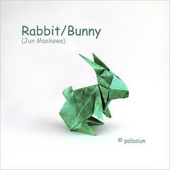 origami rabbit (polelena24) Tags: origami hare rabbit bunny animal easter square onesheet
