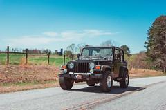 Country road Jeep (ashercurri) Tags: jeep country nc north carolina car automotive farm cows grass landscape cars wrangler awd