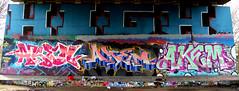 graffiti amsterdam (wojofoto) Tags: amsterdam nederland netherland holland graffiti streetart hof amsterdamsebrug flevopark halloffame wojofoto wolfgangjosten akem