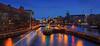 Mühlendammschleuse - Berlin (FH   Photography) Tags: berlin mühlendammschleuse schleuse deutschland wasserstrasse skyline mitte spree fluss verkehr abends blauestunde mühlendamm gebäude technik architektur ufer promenade museumshafen sehenswürdigkeit wasser spreeoderwasserstrasse historisch