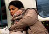`2233 (roll the dice) Tags: london streetphotography asian pretty sexy uk art classic england urban stranger candid portrait fun funny bored indian tourism tourists reaction people fashion shops shopping unaware unknown tube undergoround roundel glass window passenger carriage tfl mad surreal sleep rest tired westminster jubilee canon