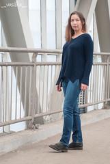 jianyue (_vasilka_) Tags: handmade knit knitting test woman sweater pullover blue wool winter
