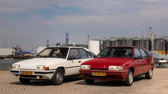 Citroën BX 19 GT / 19 TRS Aut. (Skylark92) Tags: nederland nehterlands holland zuidholland southholland vlaardingen haven harbour citroen bx photoshoot tonemapped citroën 19 trs automatic tf40zr 1988 car road gt 1985 07kxp5