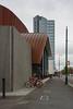 Standing Tall (Jocey K) Tags: newzealand nikond750 southisland christchurch clouds sky bikestand bikes street signs architecture rebuild cbd