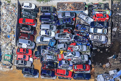 Crashed Cars (Aerial Photography) Tags: by ffb obb 21052018 5sr41131 abfallverwertung altmetallverwertung altstoffsammelstelle autoindustrie autoverwertung bavaria bayern blau deutschland farbe fotoklausleidorfwwwleidorfde fotoklausleidorfwwwleidorfaerialcom fürstenfeldbruck germany grafik industrietechnik industrieundtechnik luftaufnahme luftbild mobilität muster p1 region reihen rot schrottplatz stapel recycling aerial blue bunt carindustry carrecycling color colorful colour colourful graphicart graphics industry industrytechnology industryandtechnology junkyard mobility outdoor pattern patterns recyclingyard red rows scrapmetalexploitation scrapyard stack technology bayernbavaria deutschlandgermany deu