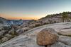 Glacial Erratic (Kirk Lougheed) Tags: california halfdome olmstedpoint tenayacanyon usa unitedstates yosemite yosemitenationalpark boulder erratic glacialerratic granite landscape moon outdoor rock sunset