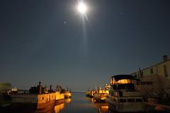wonder (~Jim Peacock~) Tags: night nightsky moon stars jupiter space bayfield wisconsin lakesuperior
