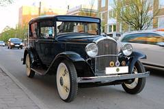 1932 Plymouth Phaeton (crusaderstgeorge) Tags: crusaderstgeorge cars classiccars americancars americanclassiccars americancarsinsweden 1932plymouthphaeton 1932 plymouth phaeton bluecars gävle gävleborg sweden sverige veterancar oldcars oldtimer