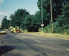 Frenchay Park Road, Begbrook, Bristol, 1983 (The Digger-Man) Tags: bristol 1983 frenchayparkroad international harvester 3434 digger loader begbrook blenmanclose scottlawrenceclose clarkdrive fiveacredrive broadwaysdrive building site new houses fordescort heatwave summer tractor