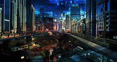 the city & the city (prole pinion) Tags: abstract abstraction surreal futurist techno fantasy scifi layers layering photoshop color light h
