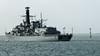 P1020398a_DxO (alanbryherhowell) Tags: royal navy frigate portsmouth solent duke class boat sea sky vessel ship water building ocean hms st albans