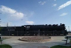 "A.T. & S.F. No. 5000 ""Madam Queen"" (ednurseathkh) Tags: texas texashistoricalmarker pottercounty atsfno5000madamqueen amarillo 27x42 steamtrain atchisontopekasantaferailway baldwinlocomotiveworks madamqueen locomotive"